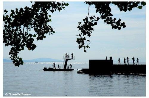 Lac Léman, plage de Lutry.