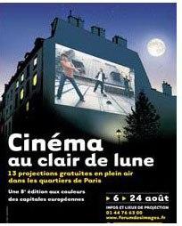 Ciné au clair de lune - 6 au 24 Août 2008 - Paris  dans Evenementiel lune-cinema