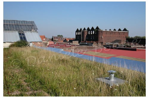 Le toit de la Condition Publique à Roubaix