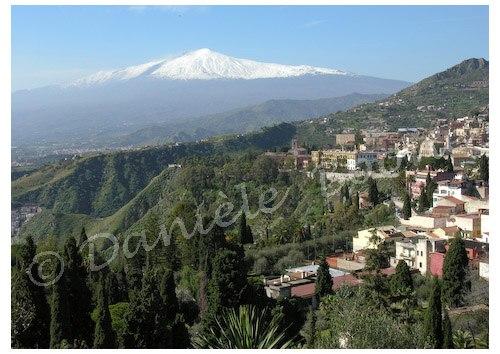 L'Etna vu de Taormine