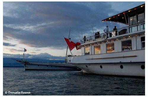 Les bateaux de la CGN (Compagnie Générale de Navigation) relient les principales villes qui bordent la Léman