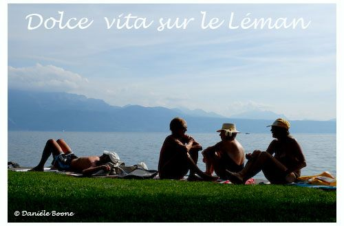 Lac Léman, plage de Lutry