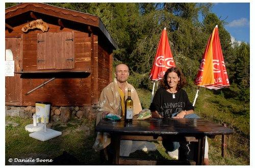 Le chorégraphe Jean-Marc Heim et l'écrivain Claudia Gamperlé.