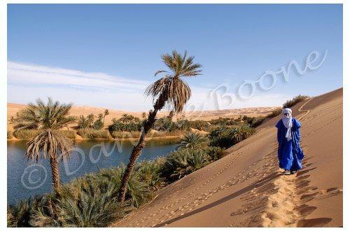 Libye - Erg Oubari - lac Oum el-Ma