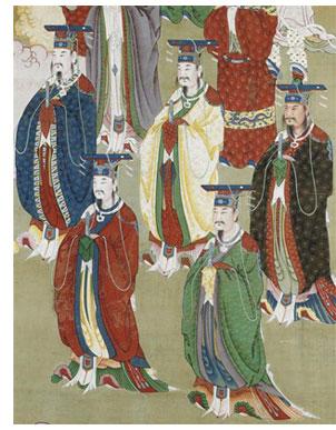 Les empereurs des cinq pics sacrés (détail) Wuyue Shangdi Musée   des arts asiatiques Guimet, Paris © Rmn / Thierry Ollivier
