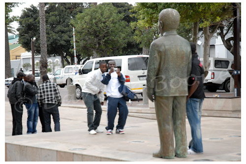 Un incontournable: se faire photographier avec Mandela © Danièle Boone