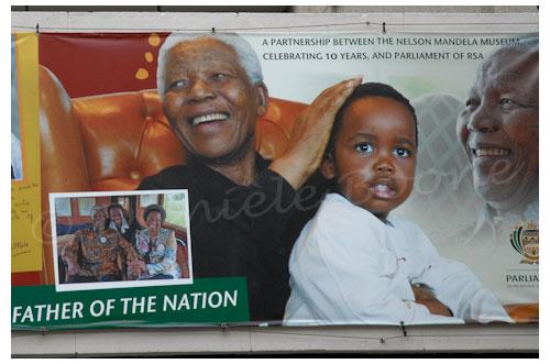 Nelson Mandela est omniprésent dans la ville © Danièle Boone