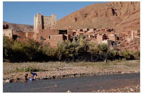 La kasbah Aït Youssef dans le village de El Hot © Danièle Boone