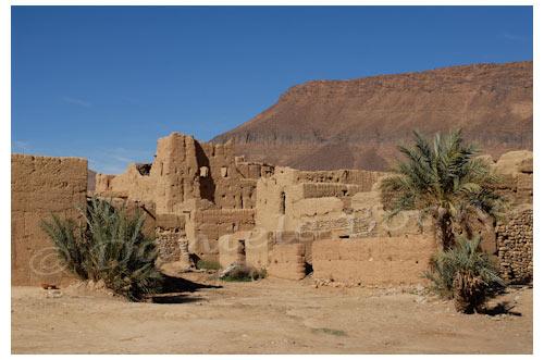 Le ksar en ruine de Aït Ouazik © Danièle Boone