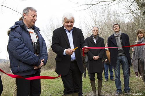 Jacques Perrin inaugure la nouvelle réserve sauvage de l'Aspas