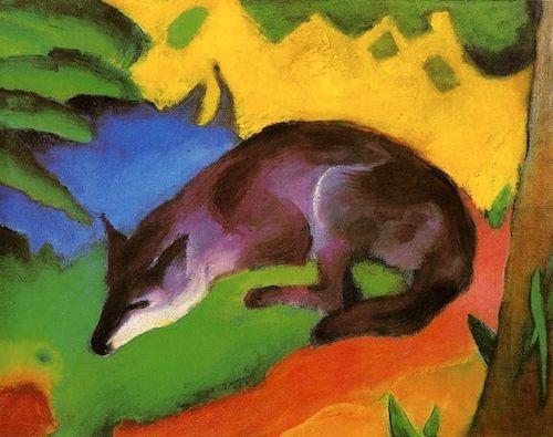 Le renard bleu de Franz Marc